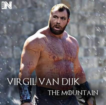 Jogadores e técnicos viram personagens de GoT: Virgil Van Dijk