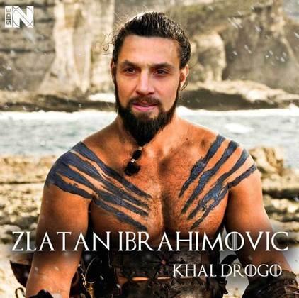 Jogadores e técnicos viram personagens de GoT: Zlatan Ibrahimovic