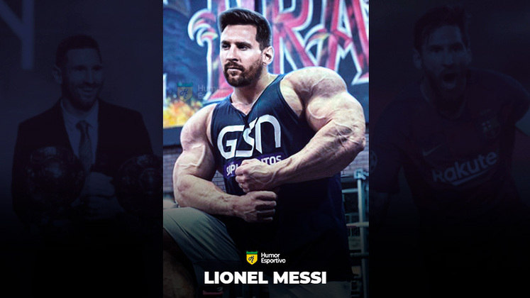 Jogadores ou fisiculturistas? O resultado com Lionel Messi!