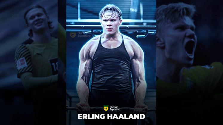 Jogadores ou fisiculturistas? O resultado com o atacante Haaland!