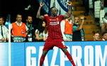 6º - Sadio Mane - LiverpoolPosição: atacanteValor: 126 milhões de euros - cerca de R$ 810 milhões