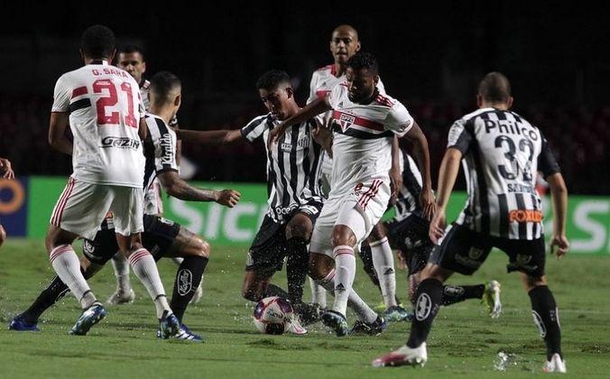 Jogo 3: São Paulo 4 x 0 Santos (Morumbi - 06/03/2021) - Gols do São Paulo: Gabriel Sara (1 x 0), Luan Peres (CONTRA) (2 X 0), Pablo (3 x 0) e Tchê Tchê (4 x 0)