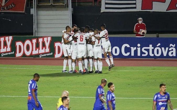 Jogo 5: São Paulo 5 x 0 São Caetano (Morumbi - 10/04/2021) - Gols do São Paulo: Arboleda (1 x 0), Rodrigo Nestor (2 x 0), Reinaldo (3 x 0), Daniel Alves (4 x 1) e Eder (5 x 1)