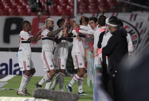 Jogo 7: São Paulo 3 x 2 Guarani (Morumbi - 14/04/2021) - Gols do São Paulo: Welington (1 x 1), Igor Gomes (2 x 1) e Vitor Bueno (3 x 2)