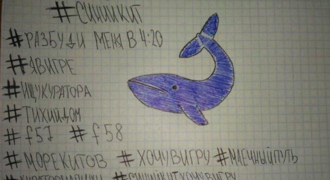 Alguns comparam a Momo com o `Baleia Azul`, um desafio que se tornou viral em abril de 2017 e sobre o qual as autoridades alertaram porque incitava o suicídio