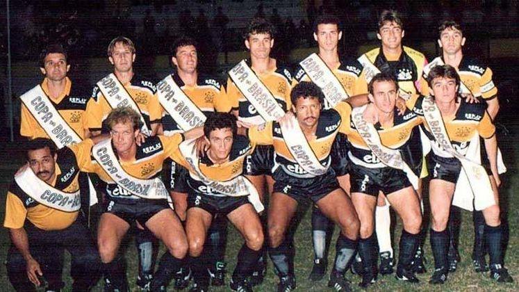 Jogo de ida da final de 1991: Grêmio 1 x 1 Criciúma - Na volta, as equipes empataram em 0 a 0 e o Criciúma foi campeão graças ao gol marcado fora de casa.