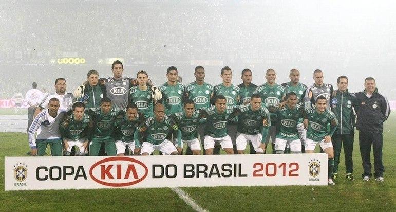 Jogo de ida da final de 2012: Palmeiras 2 x 0 Coritiba - Na volta, as equipes empataram em 1 a 1 e o Palmeiras foi campeão.