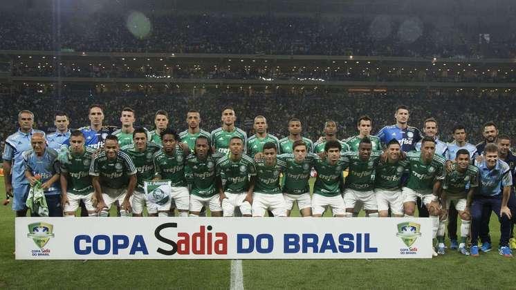 Jogo de ida da final de 2015: Santos 1 x 0 Palmeiras - Na volta, o Palmeiras venceu por 2 a 1 e foi campeão.