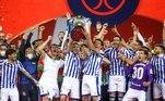 E na final da Copa do Rei da Espanha, válida pela temporada passada, 2019/20, a Real Sociedad venceu o Athletic Bilbao no clássico basco e foi campeã. O gol solitário de Mikel Oyarzabal decretou o placar da partida