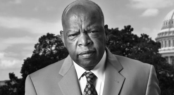 Lewis esteve presente no congresso pelo partido democrata desde 1987