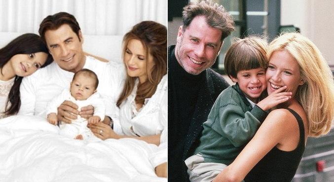 No Instagram, John Travolta relembrou fotos antigas da família
