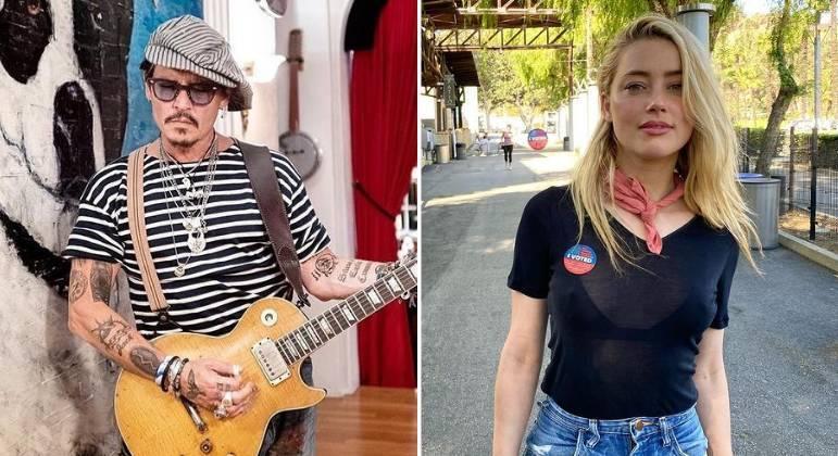 Johnny Depp e Amber Heard foram casados por um ano e três meses