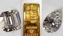 Leilão vende por R$ 4,6 mi pedras preciosas e barras de ouro de Cabral