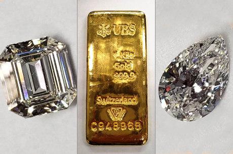 Barras de ouro e diamantes de Cabral foram leiloados
