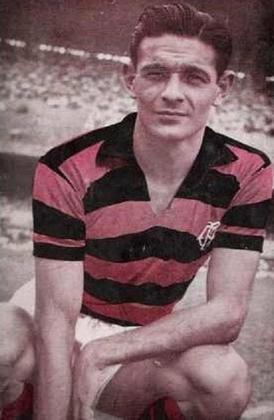 JORGE BENÍTEZ Paraguai – Atacante  Benítez atuou por 4 anos no Flamengo, entre 52 e 56. Fez parte da equipe tricampeã carioca comandada por Solich. É o segundo maior goelador estrangeiro do Rubro-Negro ao marcar 74 gols em 114 jogos.