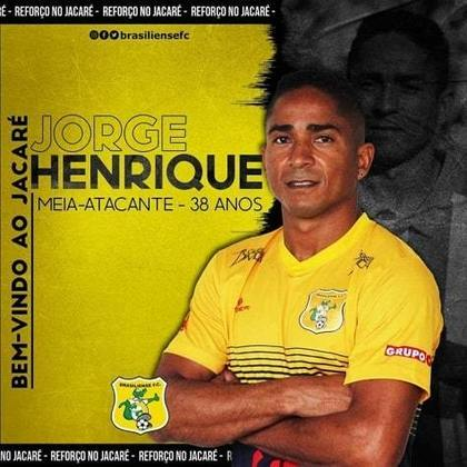 Jorge Henrique - 39 anos - atualmente defende o Brasiliense na disputa da Série D do Brasileirão.