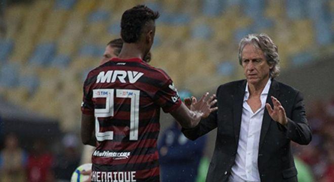Bruno Henrique é, para Jorge Jesus, o melhor atacante do Brasil