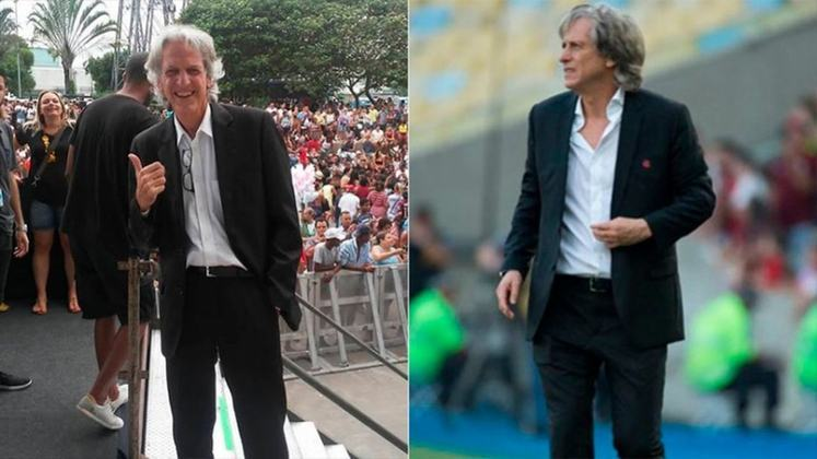 Jorge Jesus ficou marcado na história do Flamengo. Com 13 meses de trajetória, impossível o 'Mister' ter ficado de fora da brincadeira. Por isso, o treinador também ganhou um sósia, um dos mais parecidos em comparação ao elenco.