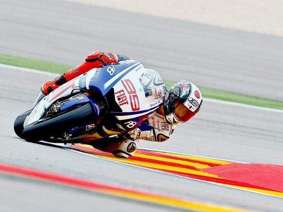 Jorge Lorenzo, campeão daquele ano, defendia a Yamaha