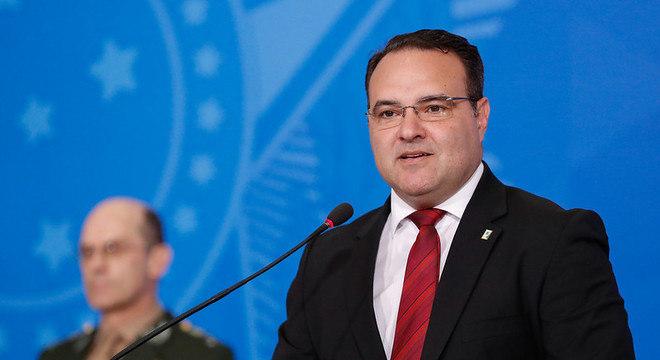 Na imagem, o novo ministro de Justiça e Segurança Pública, Jorge Oliveira