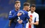 O Chelsea não tomou conhecimento do Crystal Palace e goleou com facilidade no Stamford Bridge. O ítalo-brasileiro Jorginho fez dois de pênalti, e Chilwell e Zouma completaram o placar de 4 a 0 para os Blues