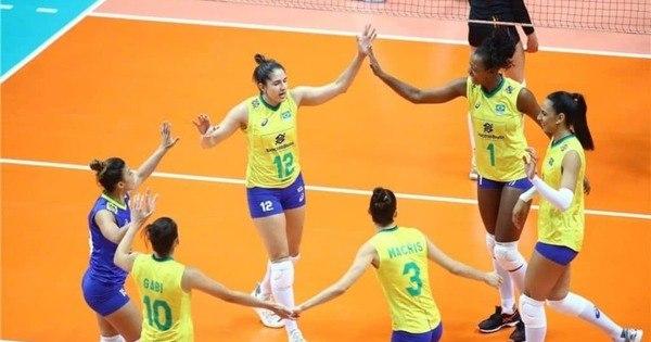 Líder, seleção feminina supera belgas e vence a 7ª seguida na Liga das Nações