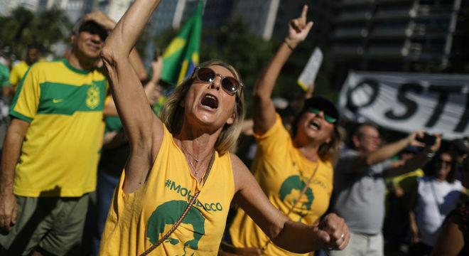 Manifestante em apoio a Sergio Moro