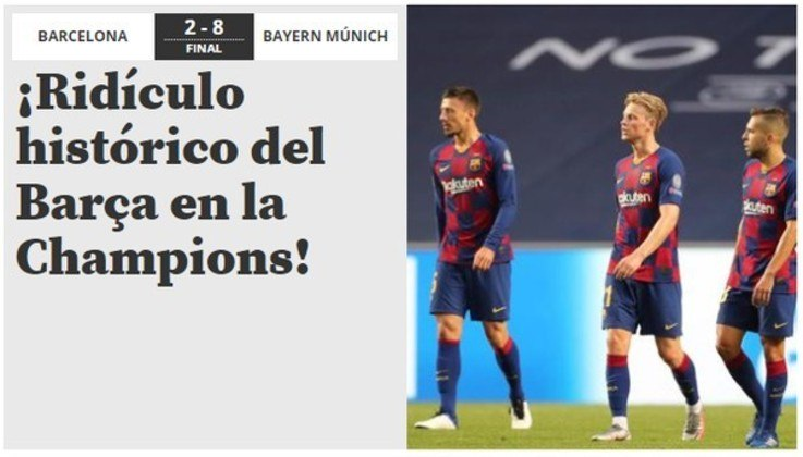 Jornal espanhol 'Mundo Desportivo':