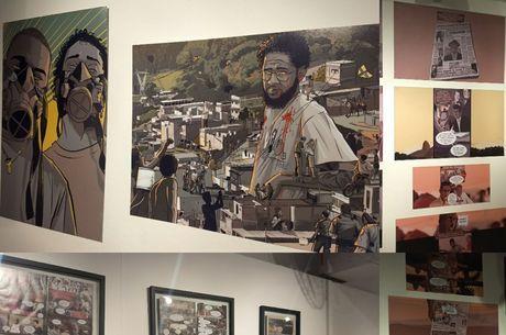 Exposição teve obras de Alexandre e de outros artistas