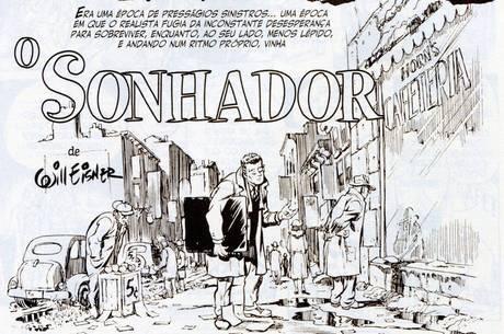 Arte da HQ Nova York, de Will Eisner