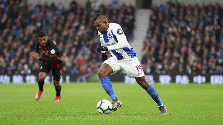 José Izquierdo - Brighton - 28 anos - Atacante - Contrato até: 30/06/2021
