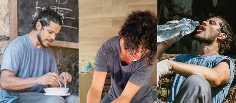 Ator compartilhou vídeo em que aparece 'colocando a mão na massa' em obra