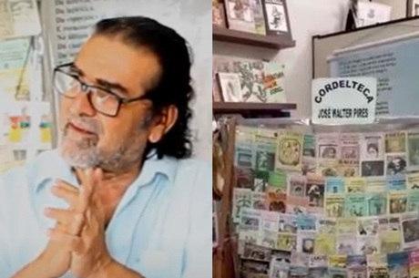 O cordelista José Walter Pires e sua cordelteca