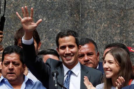Guaidó comparece à primeiro evento público