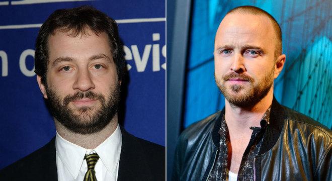 Diretor Judd Apatow (à esq.) e ator Aaron Paul criticaram a nova função da Netflix