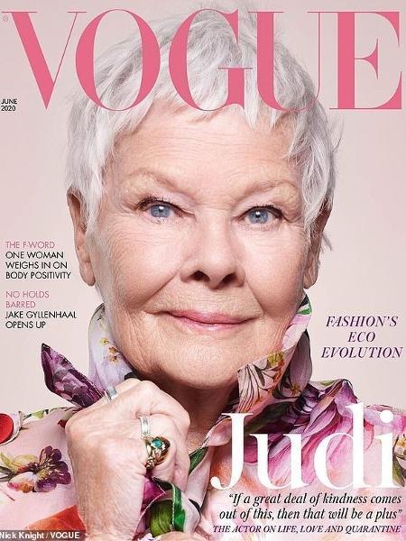 Aos 85 anos, Judi Dench é a mulher mais velha a estrelar a capa da Vogue UK