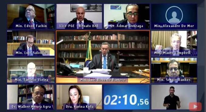 Sessão do TSE realizada por meio de videoconferência
