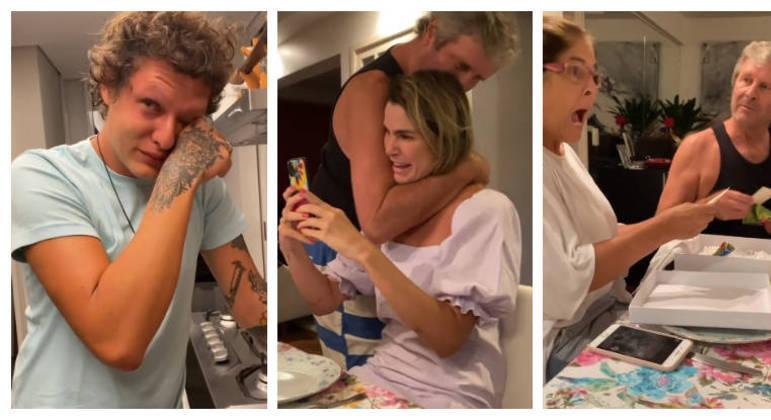 Reação dos familiares foi de choro e gritos de alegria
