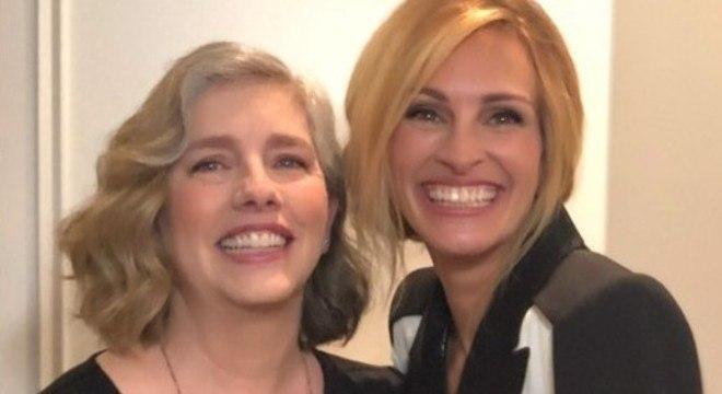 Lisa e Julia Roberts brincaram com os tempos de quarentena