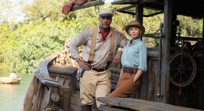 Dwayne Johnson e Emily Blunt são os protagonistas de 'Jungle Cruise'