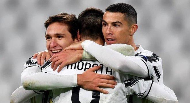 Chiesa, Morata e Cristiano Ronaldo