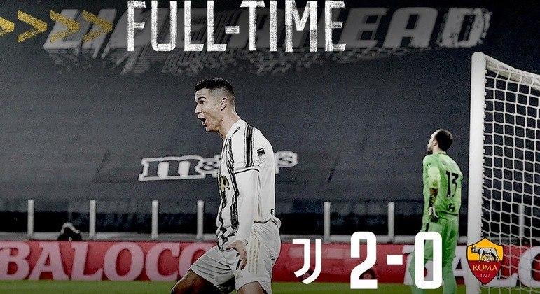 Na capa do Twitter da Juventus, o CR7