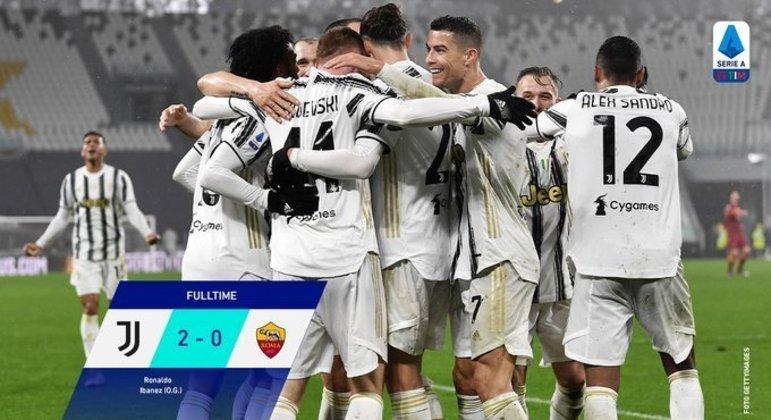 Em Turim, a celebração da Juventus