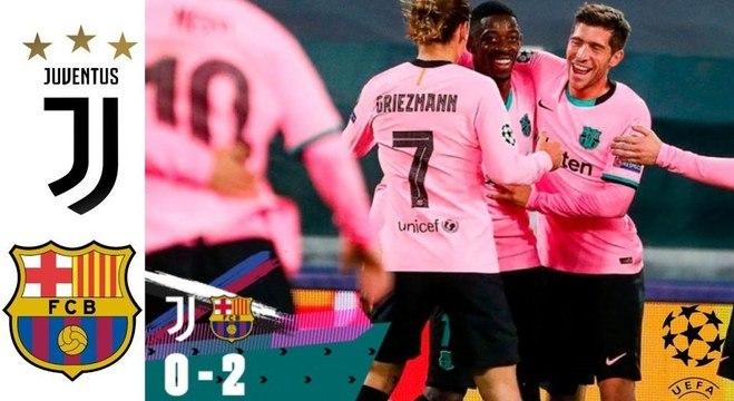 Na ida em Turim, juve 0 X 2 Barcelona, um resultado difícil de reverter