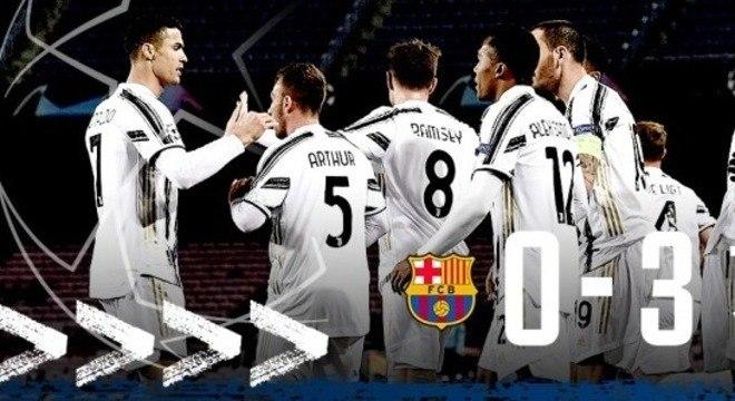 Festa da Juve, 3 X o em pleno Camp Nou do Barcelona
