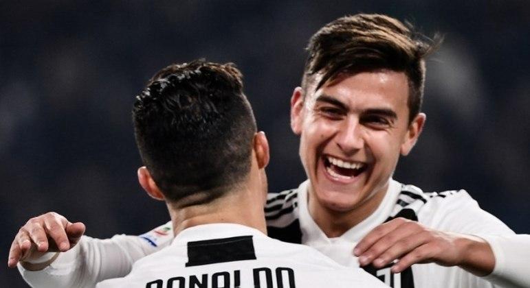 Cristiano Ronaldo e Dybala, Juventus 2 X 1 Napoli