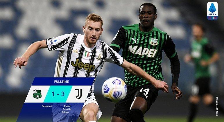 A Juventus, uma eneacampeã na quinta colocação na tabela