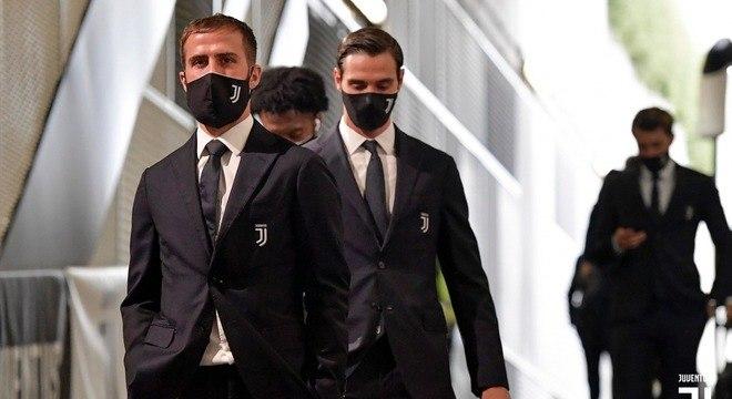 A chegada da Juve ao seu estádio