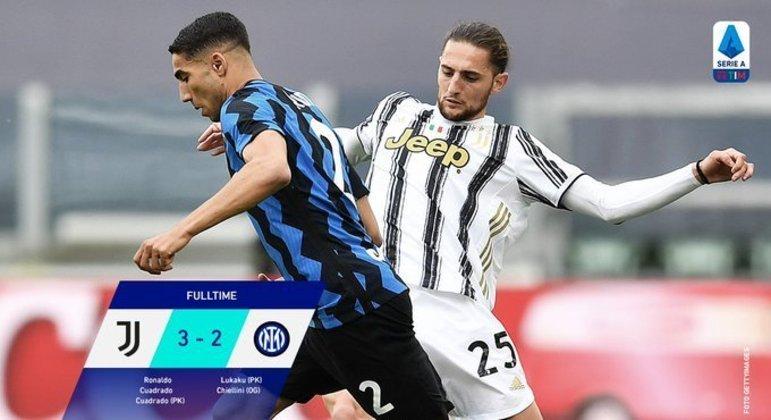 Juve 3 X 2 Inter, o cotejo mais importante da rodada 37