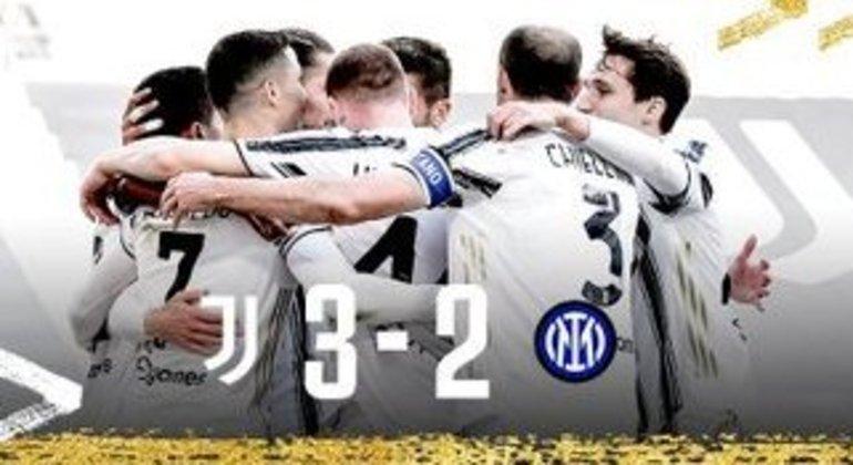 A Juventus, na alegria ainda ilusória do triunfo sobre a campeã